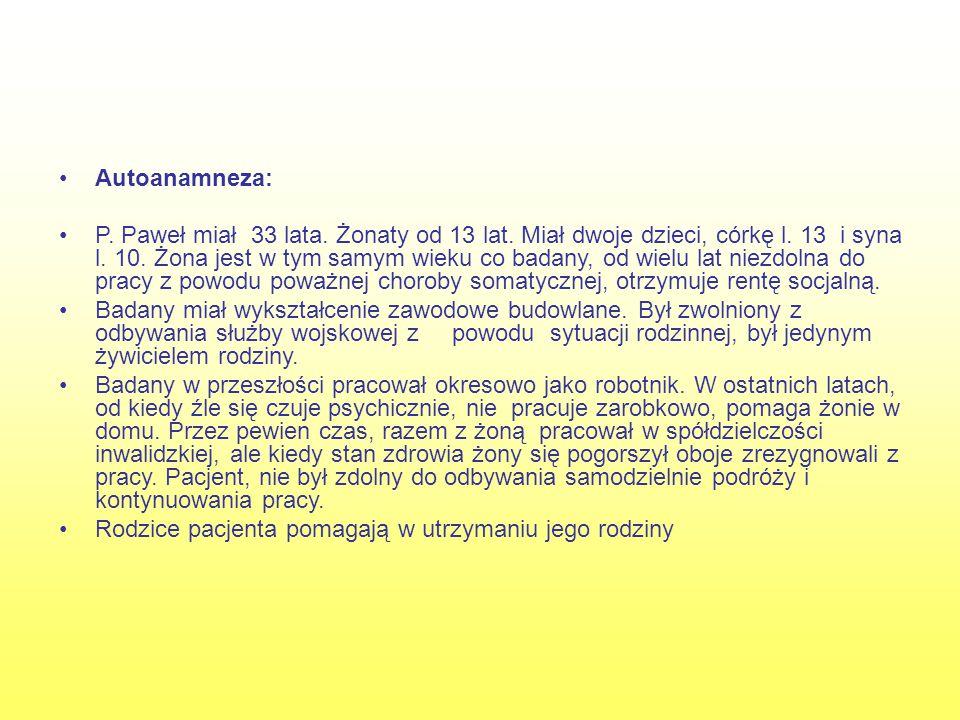 Autoanamneza: