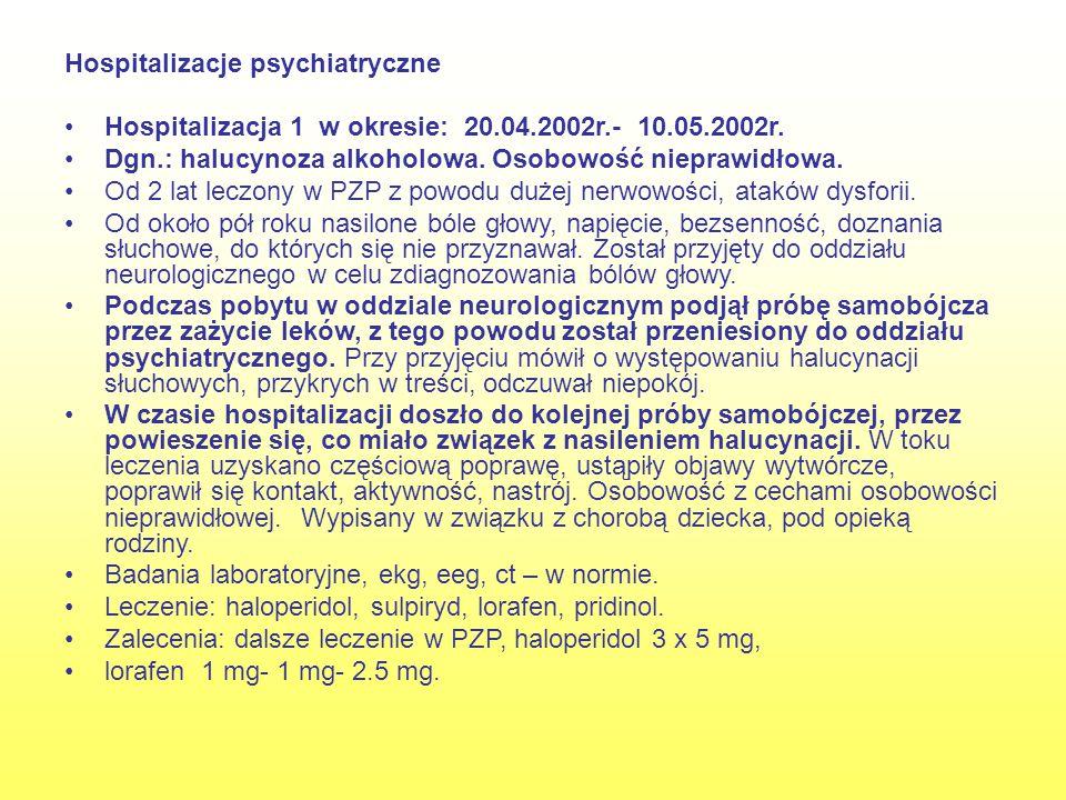Hospitalizacje psychiatryczne