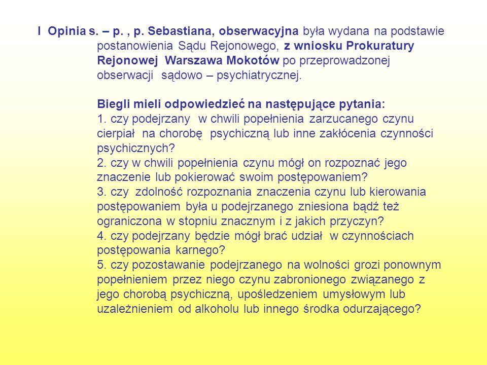 I Opinia s. – p. , p.