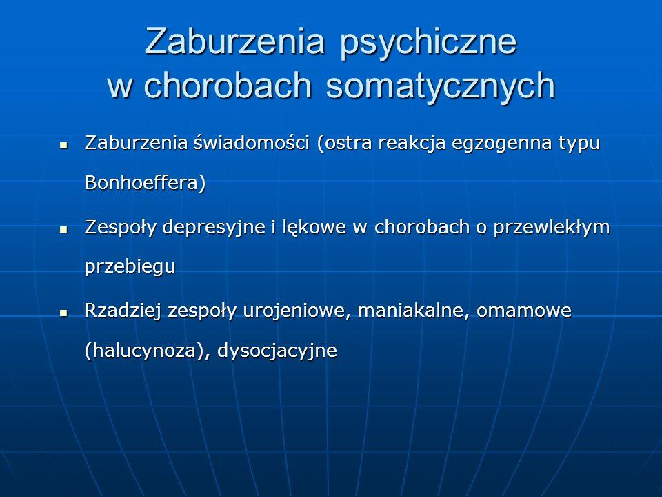 Zaburzenia psychiczne w chorobach somatycznych