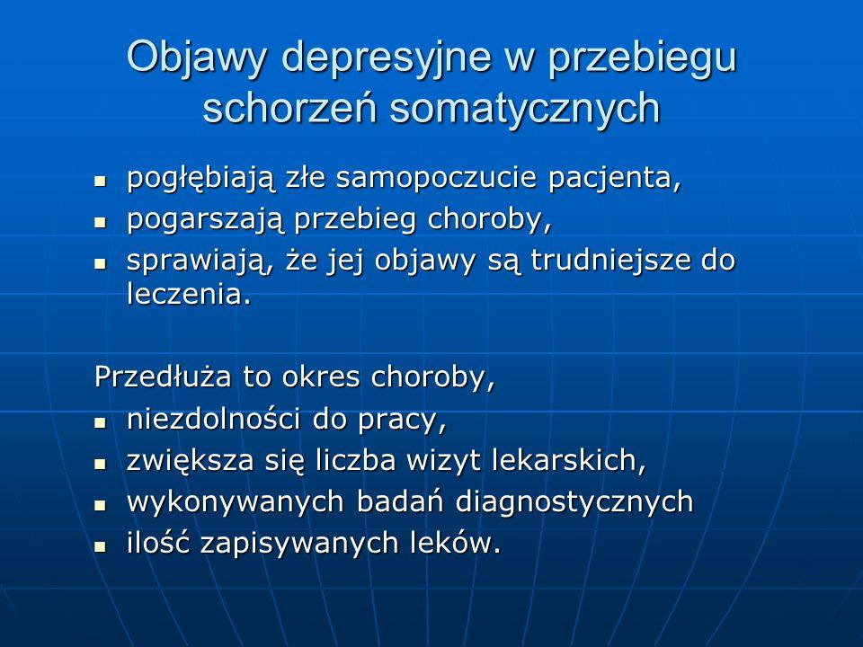 Objawy depresyjne w przebiegu schorzeń somatycznych