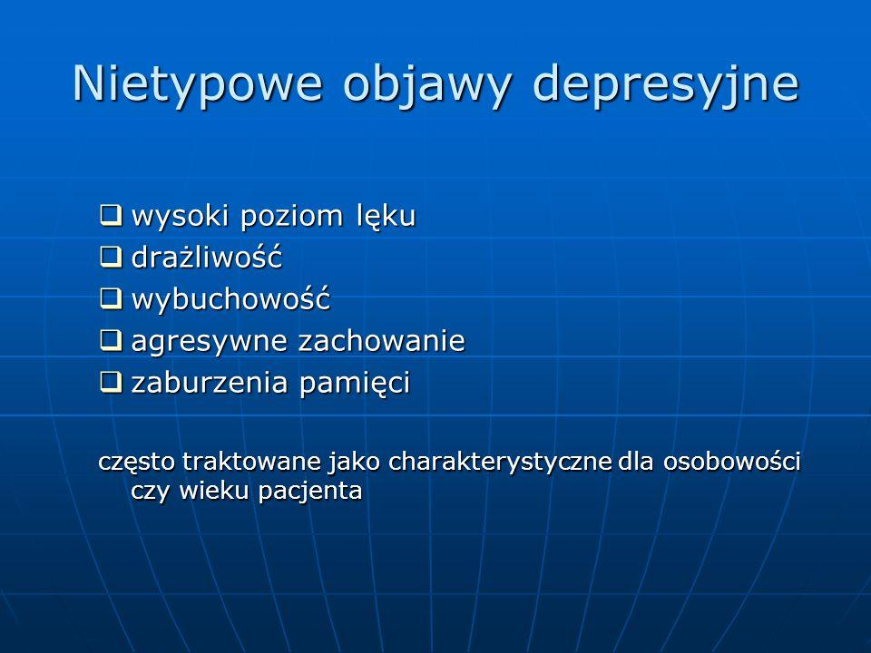 Nietypowe objawy depresyjne