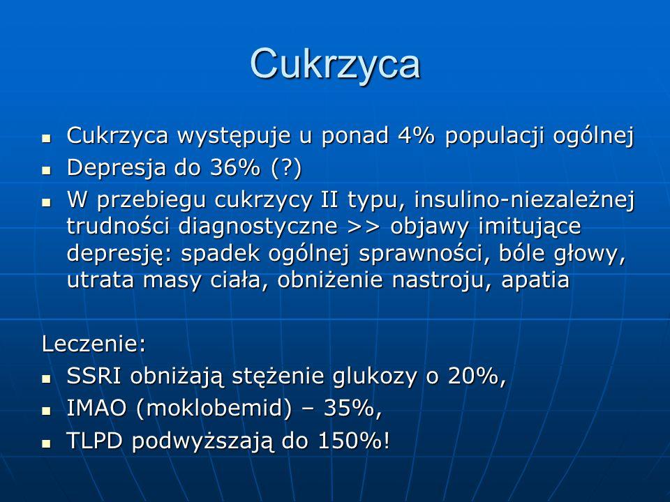 Cukrzyca Cukrzyca występuje u ponad 4% populacji ogólnej