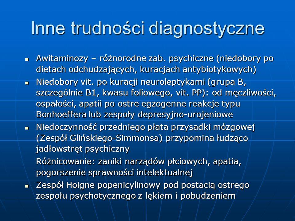 Inne trudności diagnostyczne