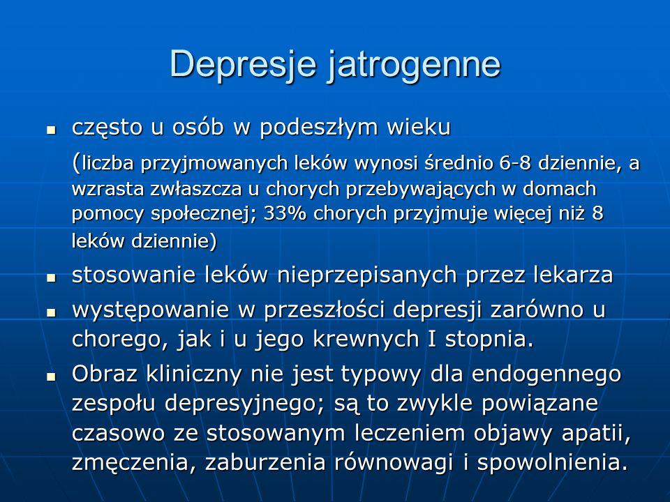 Depresje jatrogenne często u osób w podeszłym wieku