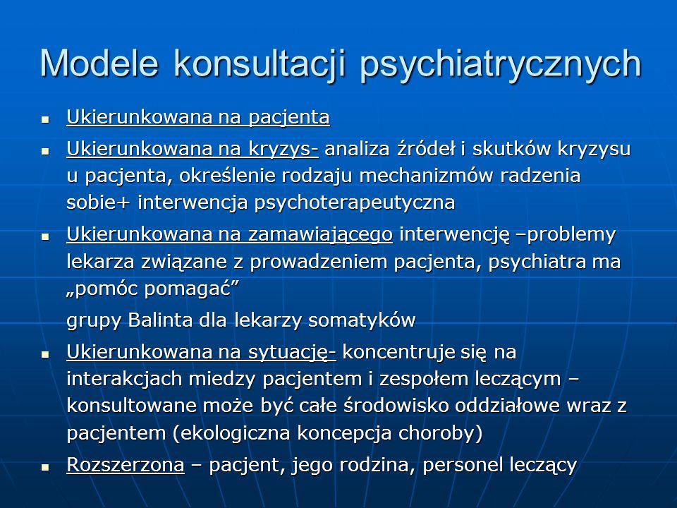 Modele konsultacji psychiatrycznych