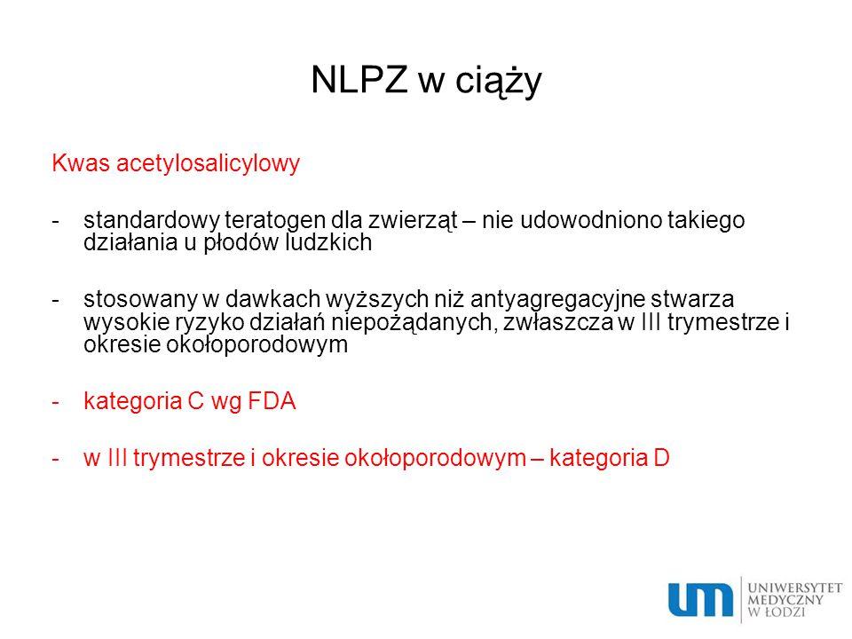 NLPZ w ciąży Kwas acetylosalicylowy