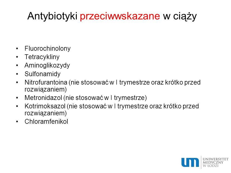 Antybiotyki przeciwwskazane w ciąży
