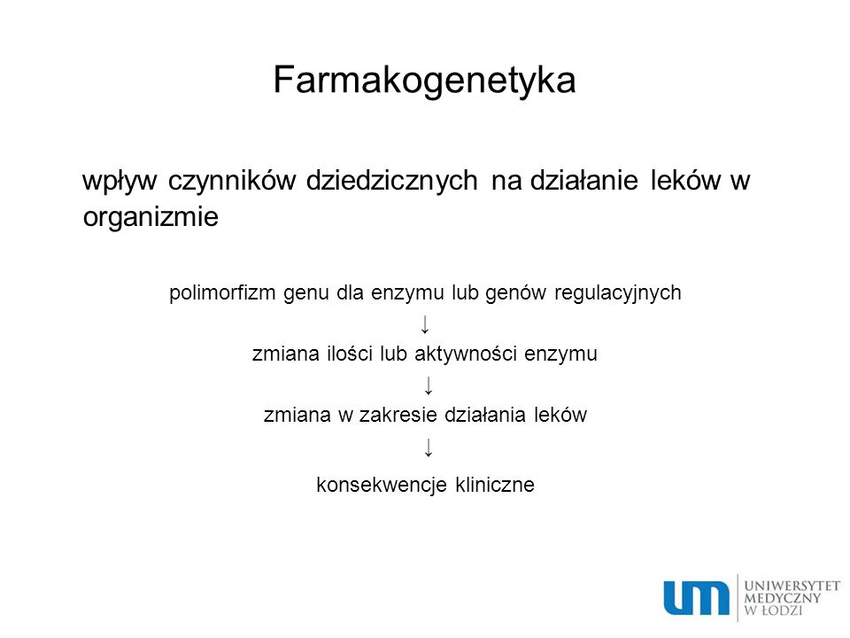 wpływ czynników dziedzicznych na działanie leków w organizmie