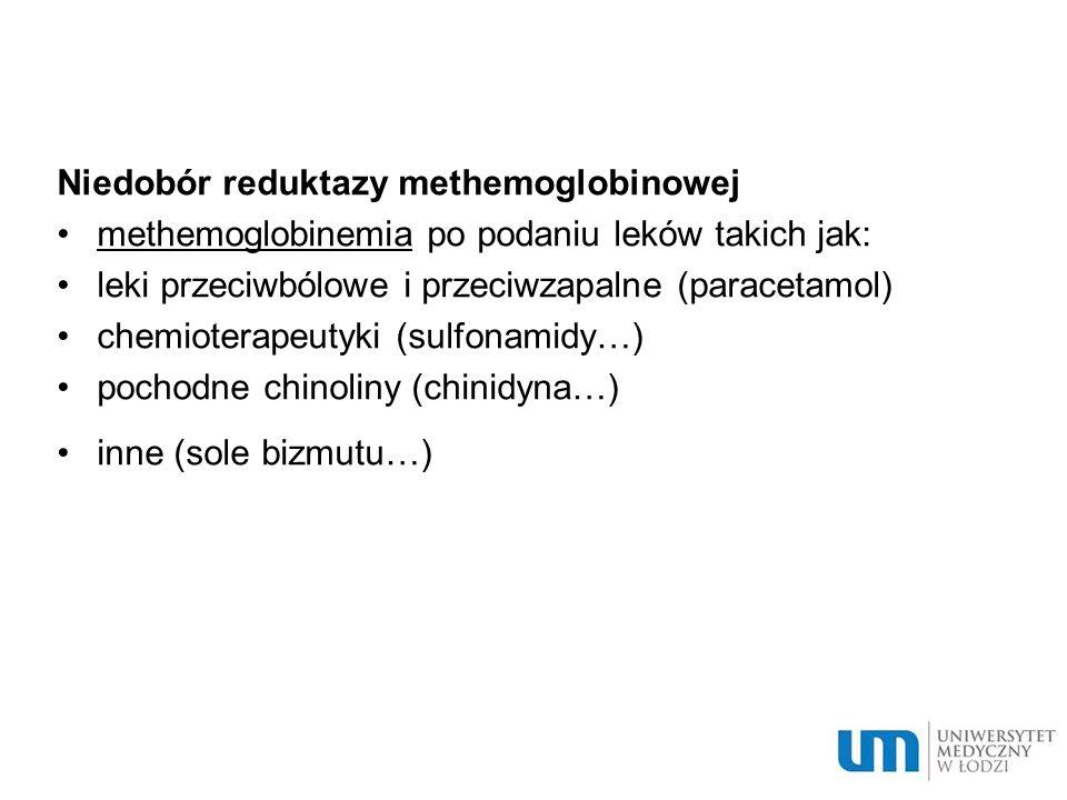 Niedobór reduktazy methemoglobinowej