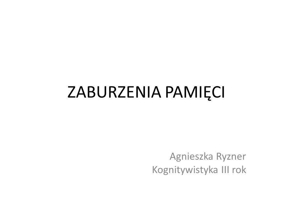 Agnieszka Ryzner Kognitywistyka III rok