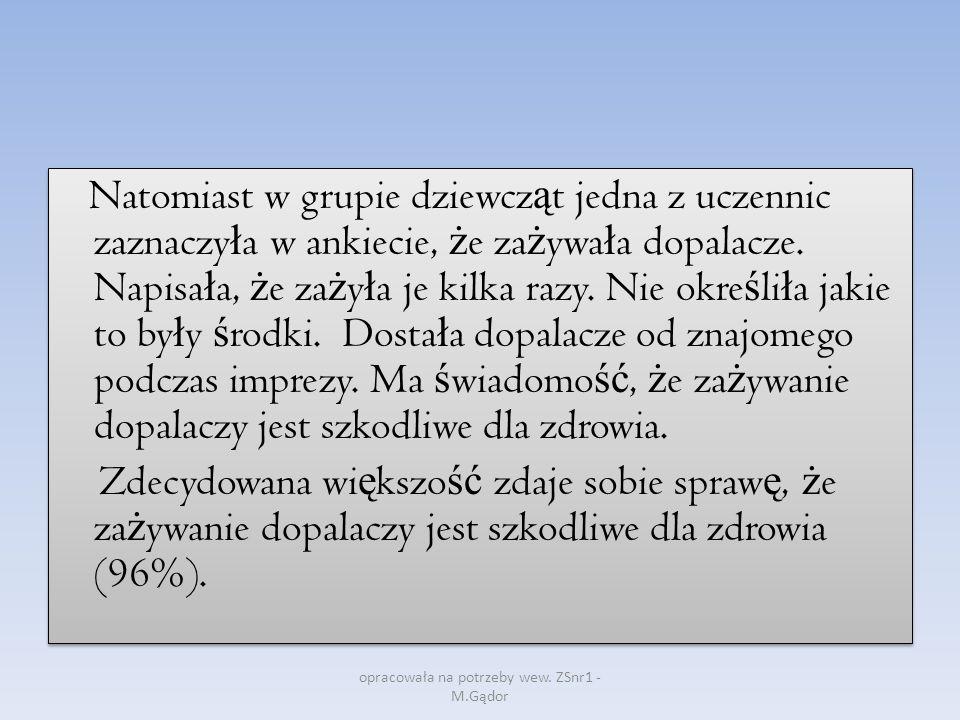opracowała na potrzeby wew. ZSnr1 - M.Gądor