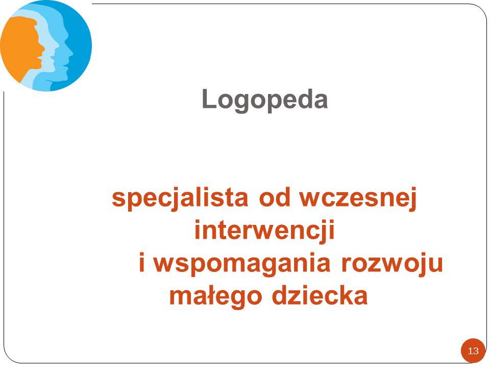 Logopeda specjalista od wczesnej interwencji i wspomagania rozwoju małego dziecka