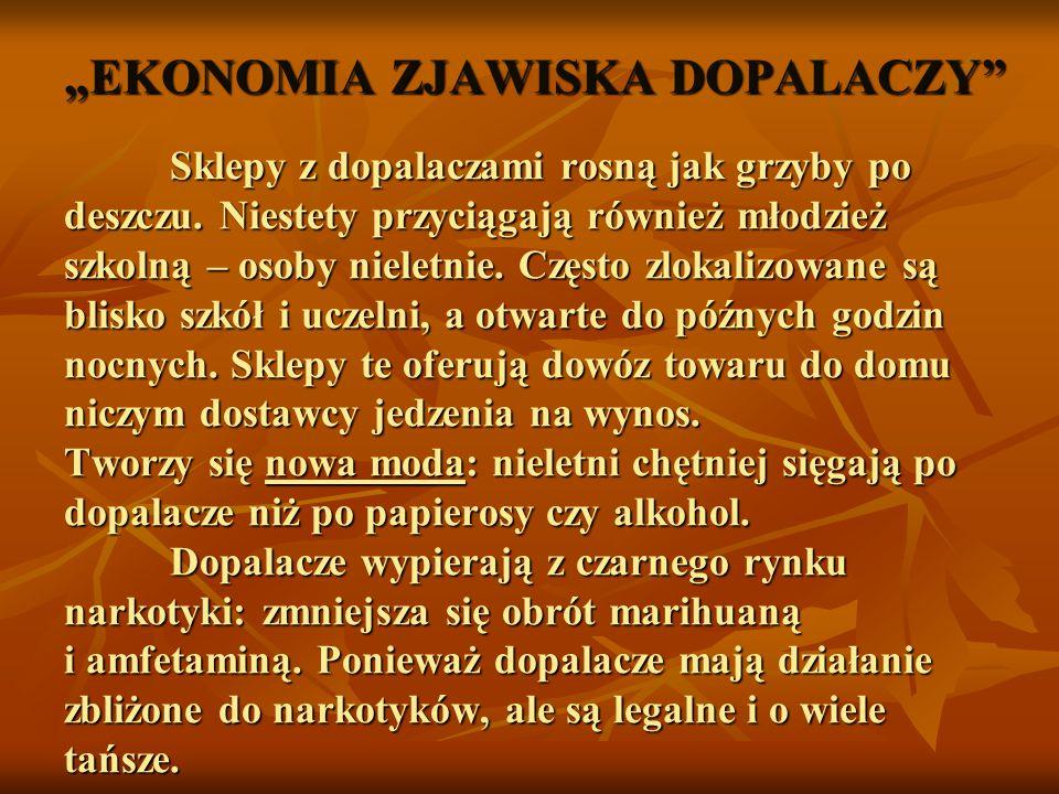 """""""EKONOMIA ZJAWISKA DOPALACZY"""
