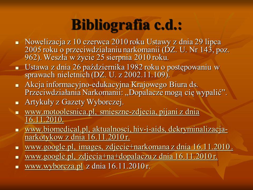 Bibliografia c.d.: