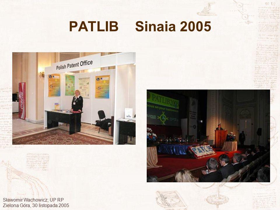 PATLIB Sinaia 2005 Sławomir Wachowicz; UP RP