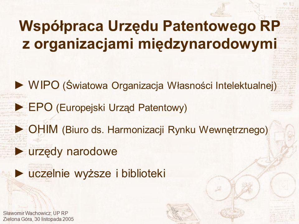 Współpraca Urzędu Patentowego RP z organizacjami międzynarodowymi