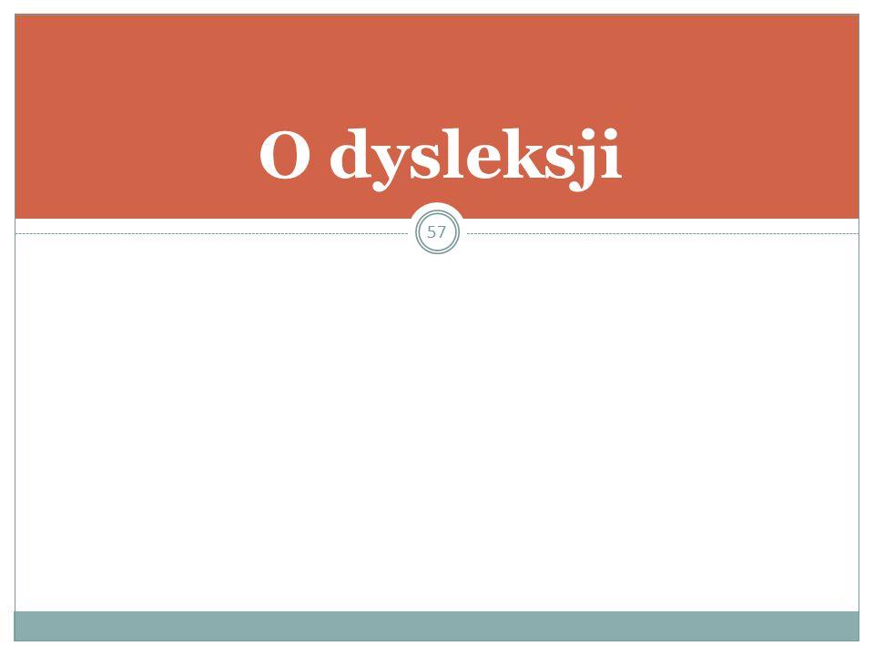 O dysleksji