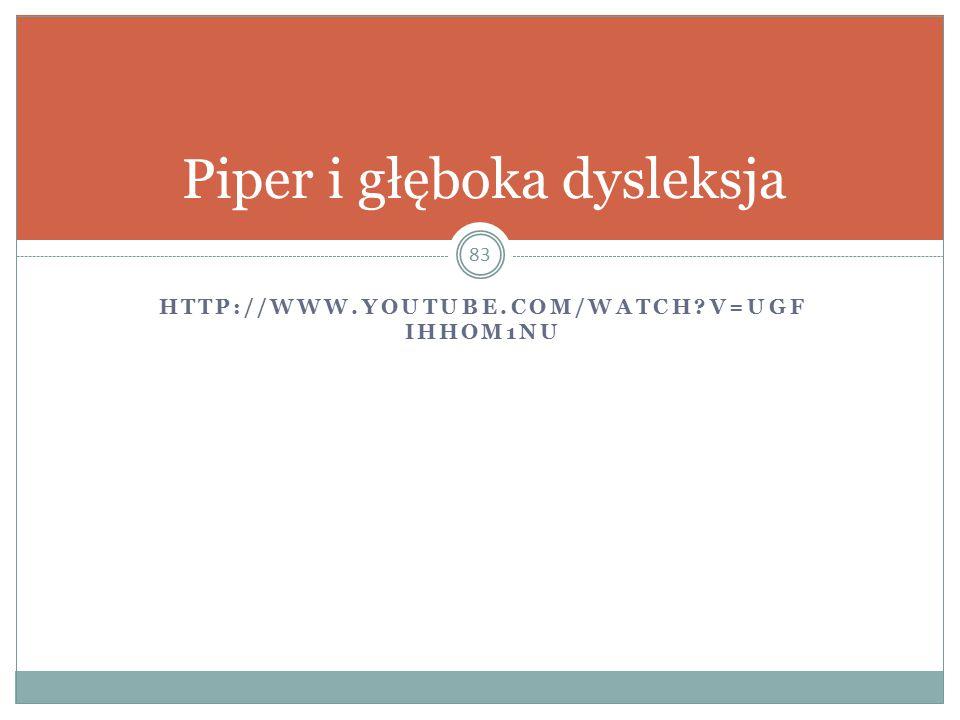 Piper i głęboka dysleksja