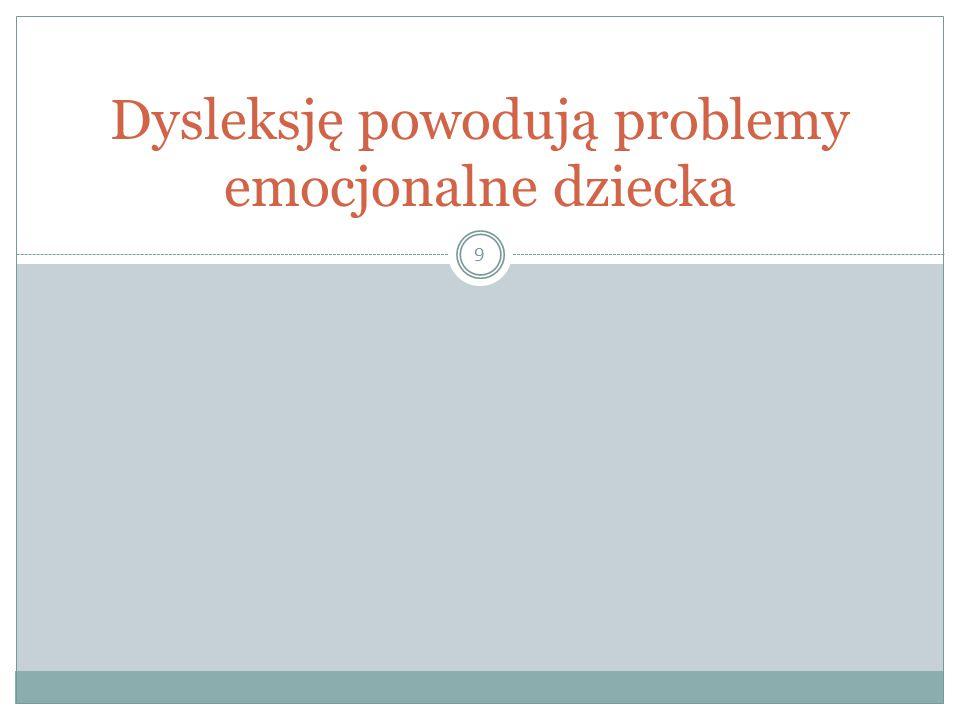 Dysleksję powodują problemy emocjonalne dziecka