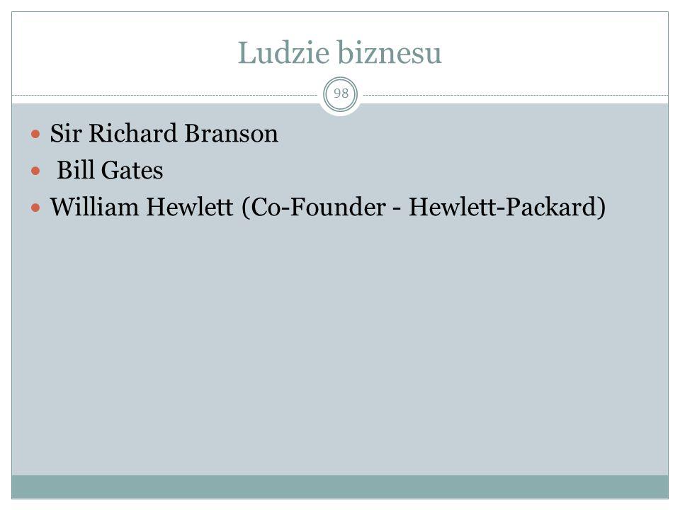Ludzie biznesu Sir Richard Branson Bill Gates