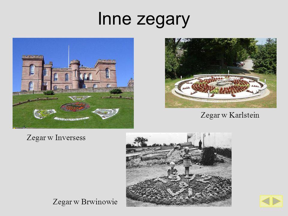 Inne zegary Zegar w Karlstein Zegar w Inversess Zegar w Brwinowie