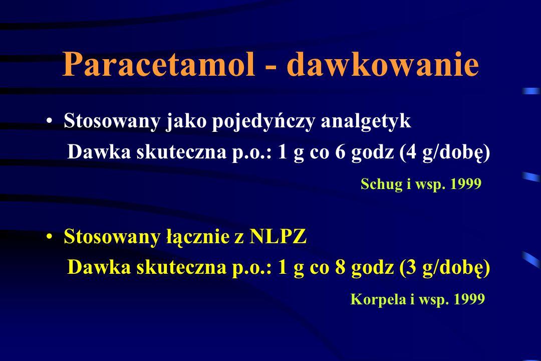 Paracetamol - dawkowanie