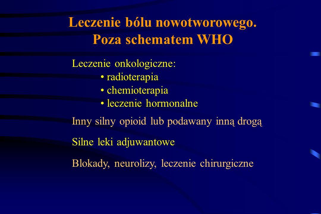 Leczenie bólu nowotworowego. Poza schematem WHO