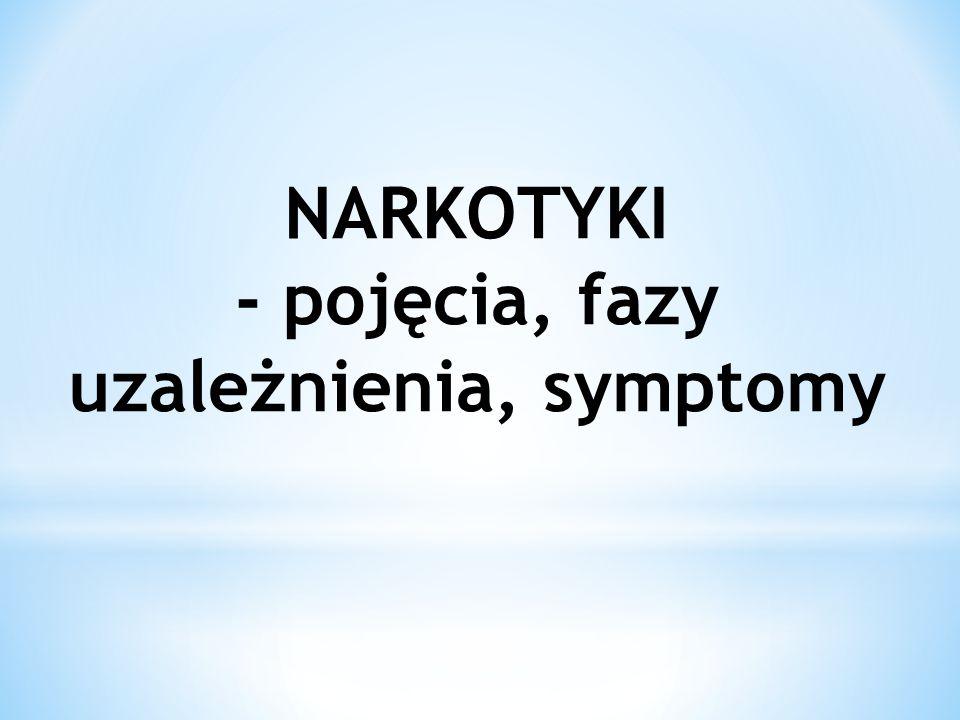 - pojęcia, fazy uzależnienia, symptomy