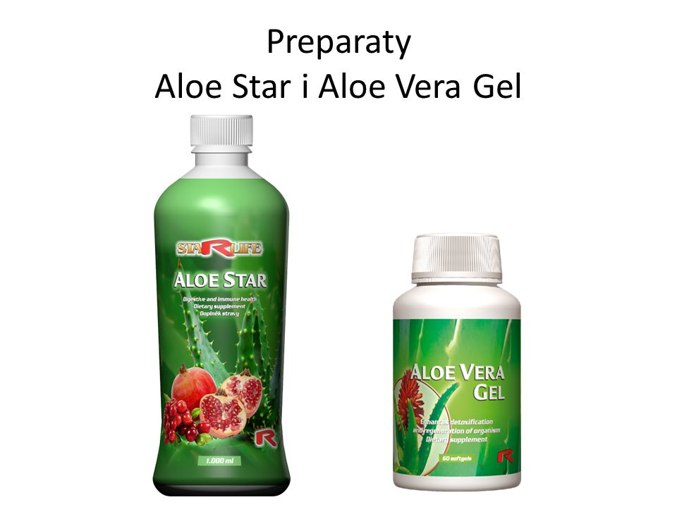 Preparaty Aloe Star i Aloe Vera Gel