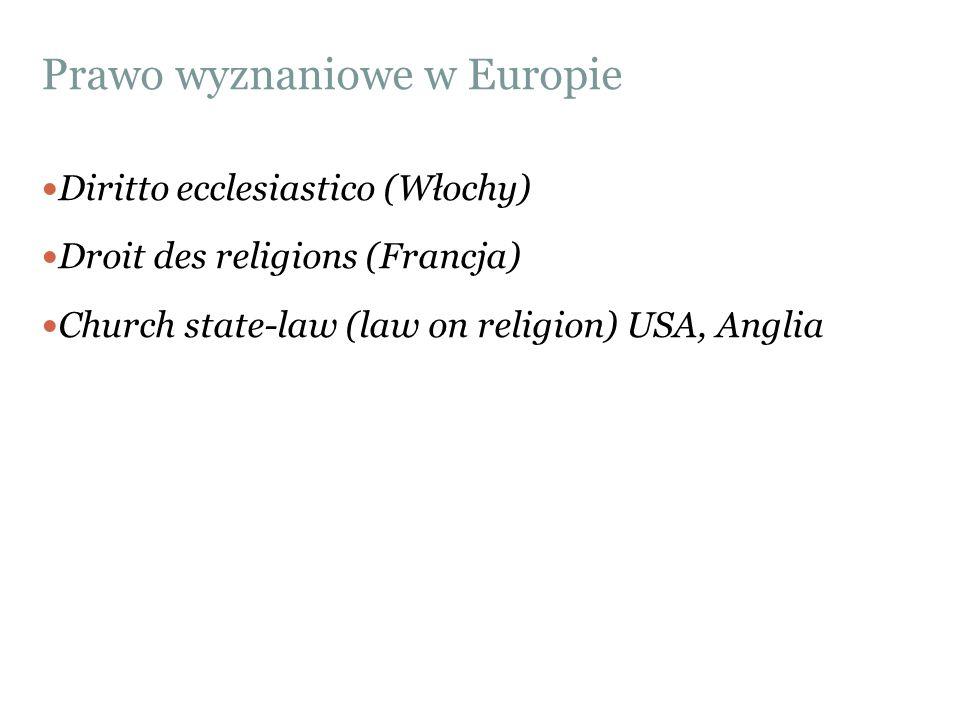 Prawo wyznaniowe w Europie