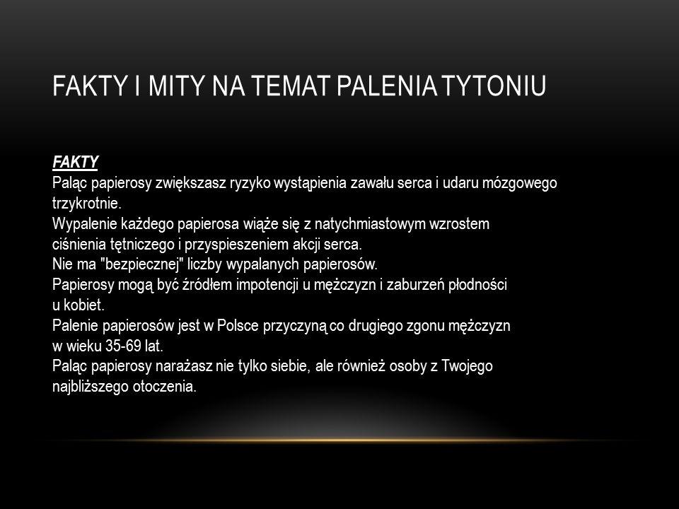 FAKTY I MITY NA TEMAT PALENIA TYTONIU