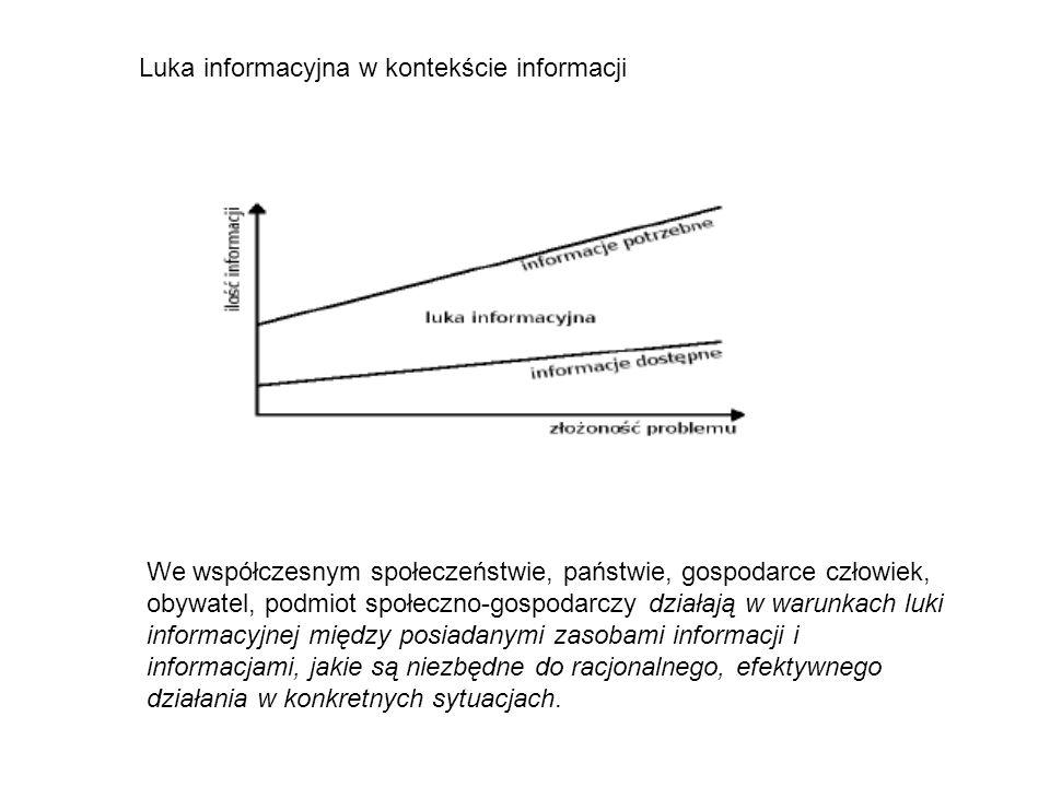 Luka informacyjna w kontekście informacji