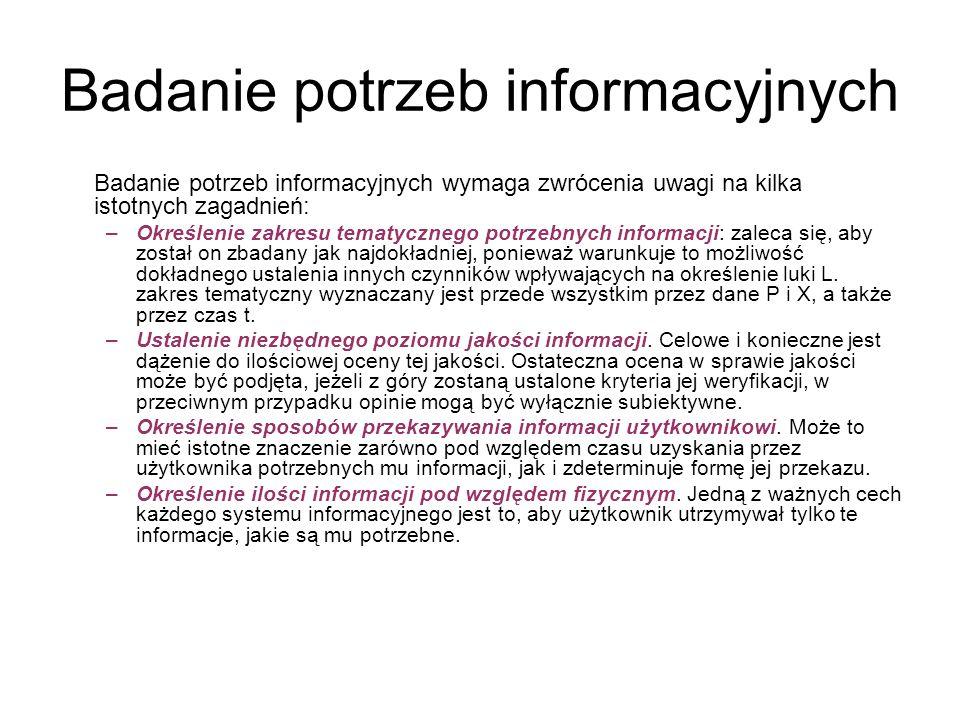 Badanie potrzeb informacyjnych