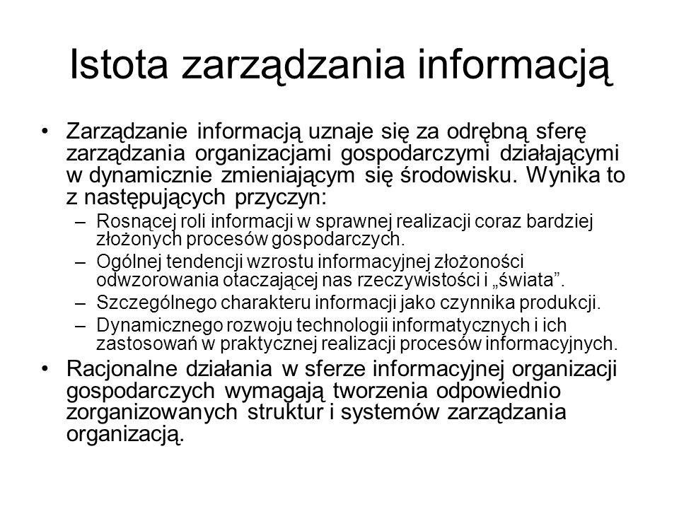 Istota zarządzania informacją