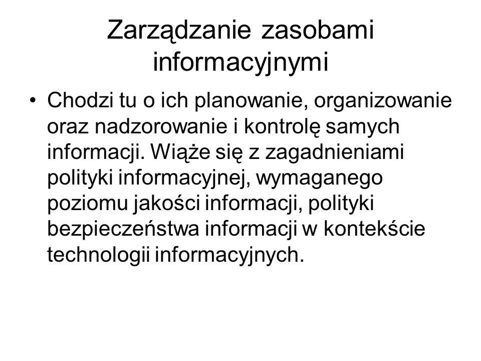 Zarządzanie zasobami informacyjnymi