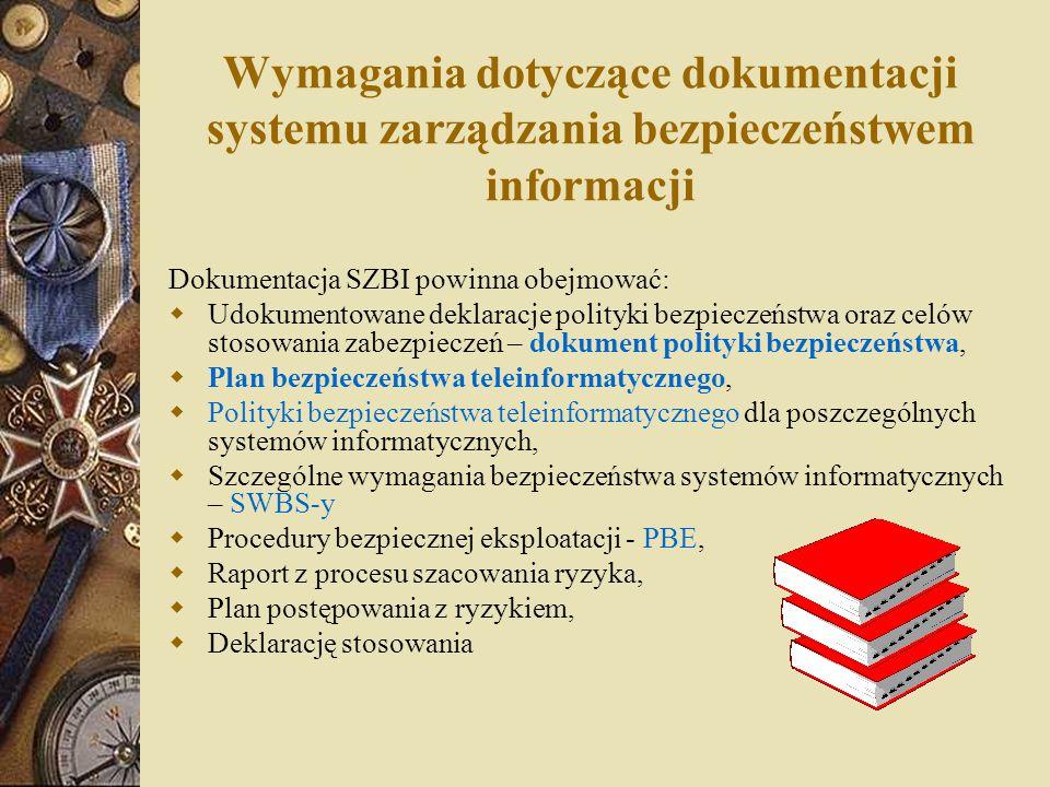 Wymagania dotyczące dokumentacji systemu zarządzania bezpieczeństwem informacji