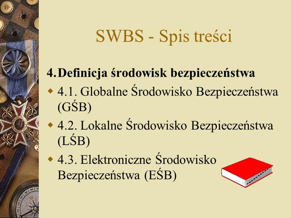 SWBS - Spis treści 4. Definicja środowisk bezpieczeństwa