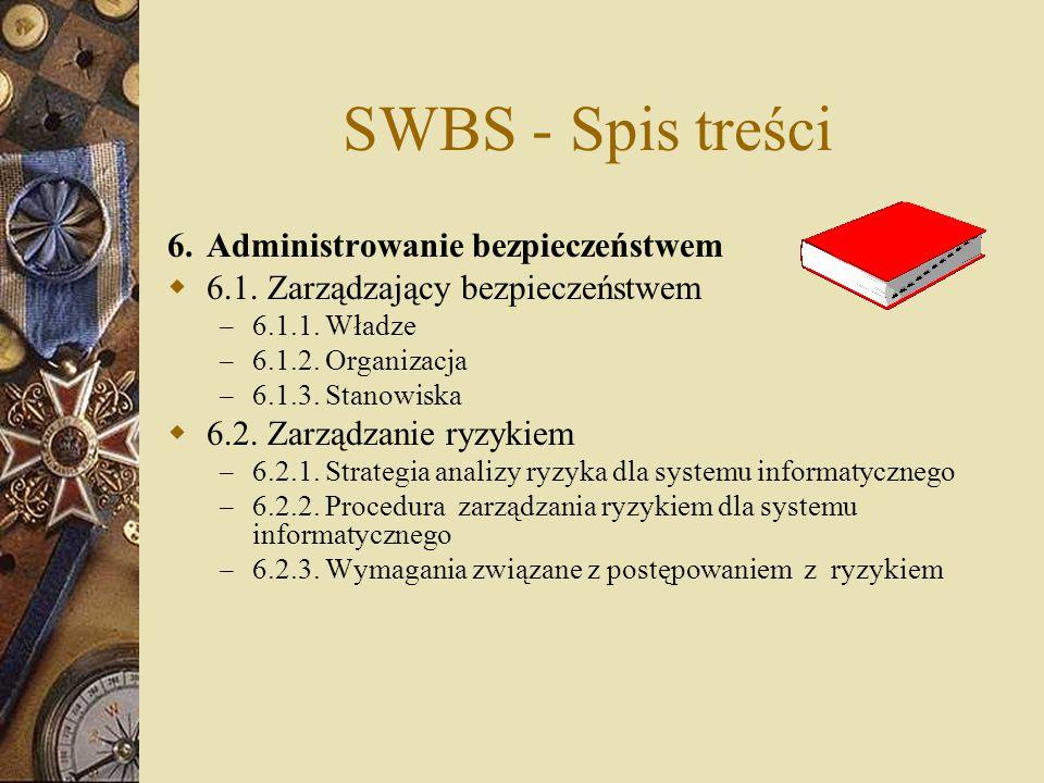 SWBS - Spis treści 6. Administrowanie bezpieczeństwem