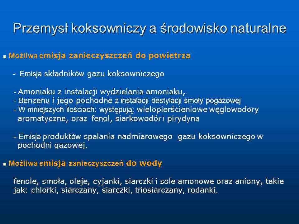 Przemysł koksowniczy a środowisko naturalne