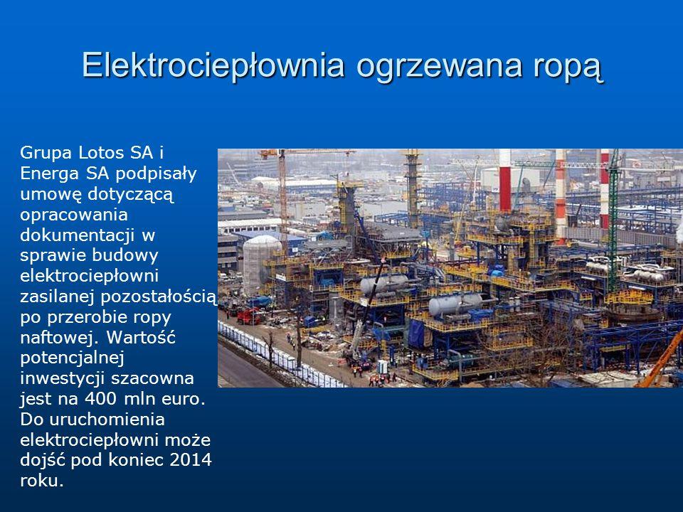 Elektrociepłownia ogrzewana ropą