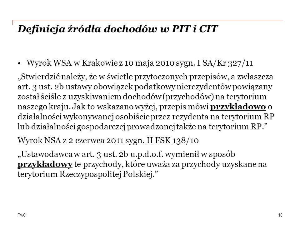 Definicja źródła dochodów w PIT i CIT