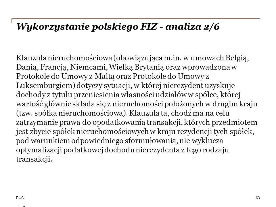 Wykorzystanie polskiego FIZ - analiza 2/6