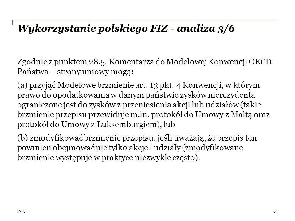 Wykorzystanie polskiego FIZ - analiza 3/6