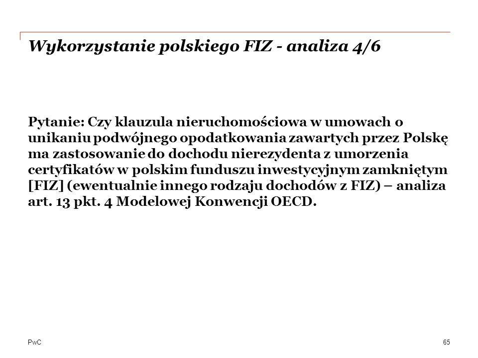 Wykorzystanie polskiego FIZ - analiza 4/6