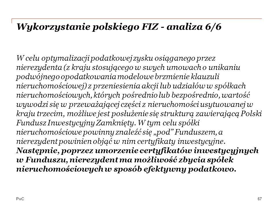Wykorzystanie polskiego FIZ - analiza 6/6