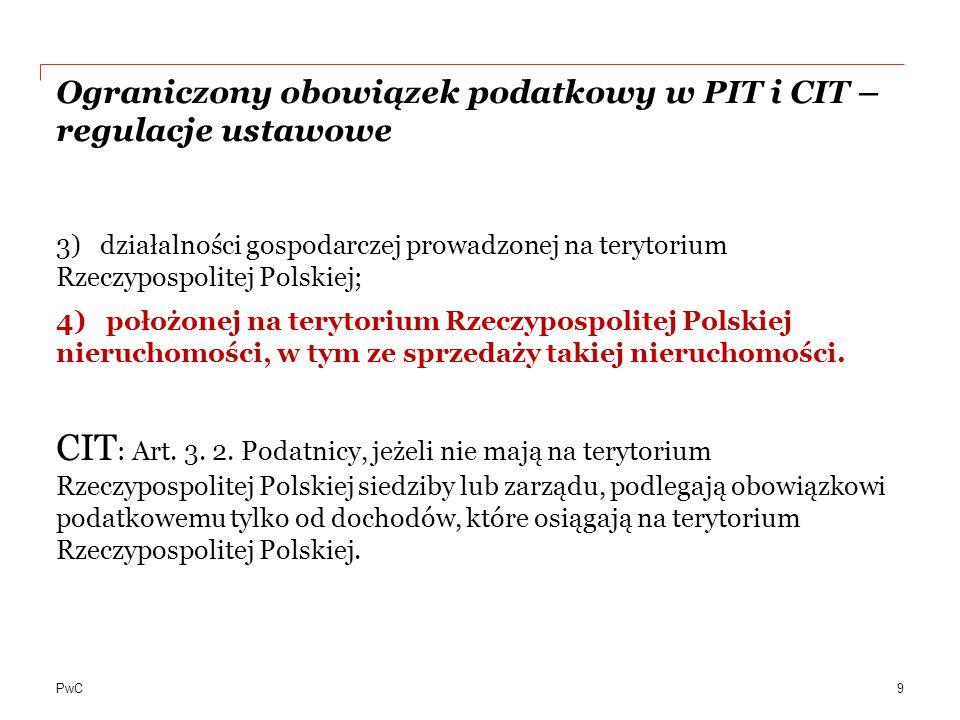 Ograniczony obowiązek podatkowy w PIT i CIT – regulacje ustawowe