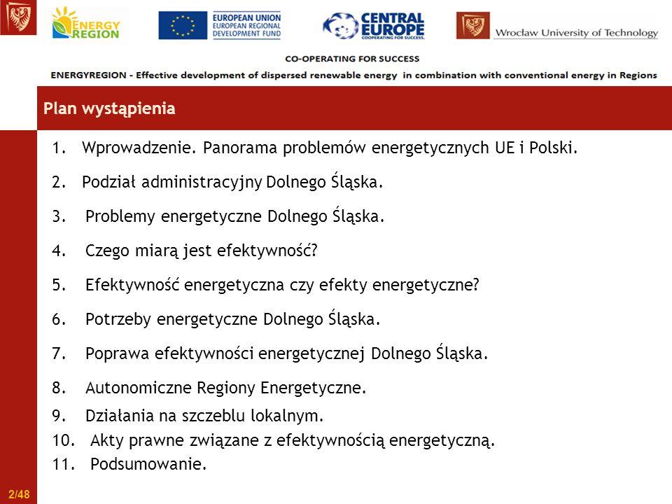 1. Wprowadzenie. Panorama problemów energetycznych UE i Polski.
