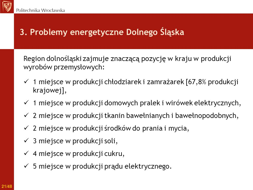 3. Problemy energetyczne Dolnego Śląska