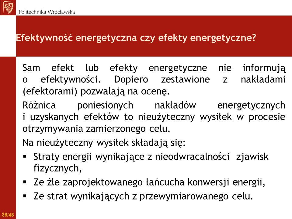 Efektywność energetyczna czy efekty energetyczne